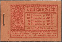 Deutsches Reich - Markenheftchen: 1921, Freimarken Germania / Ziffer, Vollständiges 12 M Heftchen Mi - Deutschland