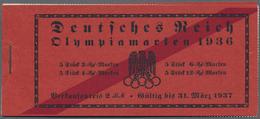 Deutsches Reich - Markenheftchen: 1936, Olympische Spiele, Komplettes Postfrisches Markenheftchen Mi - Deutschland