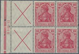 Deutsches Reich - Markenheftchenblätter: 1911/1912. 10 Pfg Germania, Markenheftchenblatt Mit Andreas - Deutschland