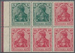 Deutsches Reich - Markenheftchenblätter: 1915, Heftchenblatt 5 Und 10 Pfg. Germania Im Kriegsdruck U - Deutschland