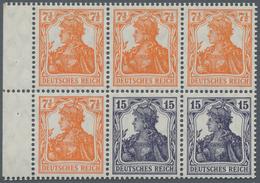 Deutsches Reich - Markenheftchenblätter: 1917, Heftchenblatt 7 ½ +15 Pfg. Germania Postfrisch, Durch - Deutschland