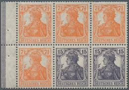 Deutsches Reich - Markenheftchenblätter: 1917, Heftchenblatt 7½ +15 Pfg. Germania Ungebraucht, Durch - Deutschland