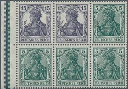 Deutsches Reich - Markenheftchenblätter: 1917, Heftchenblatt 5 + 15 Pfg. Germania Postfrisch, Nicht - Deutschland