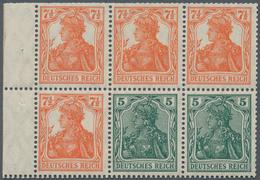 Deutsches Reich - Markenheftchenblätter: 1918, Heftchenblatt 5 + 7 ½ Pfg. Germania Postfrisch, Durch - Deutschland