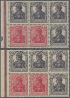 Deutsches Reich - Markenheftchenblätter: 1919, 4 Heftchenblätter 10 + 15 Pfg. Germania Postfrisch, 2 - Deutschland