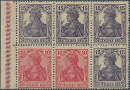 Deutsches Reich - Markenheftchenblätter: 1919, Heftchenblatt 10 Pfg. Rosarot + 15 Pfg. Grauviolett G - Deutschland