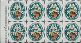 Deutsches Reich - Markenheftchenblätter: 1926, 5+5 Pfg. Nothilfe Landeswappen II, Heftchenblatt 54 B - Deutschland