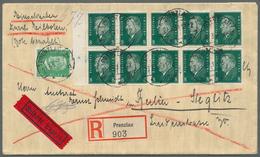 Deutsches Reich - Markenheftchenblätter: 1928, Komplettes Heftchenblatt 10 X 8 Pf Ebert Mit Liegende - Deutschland