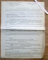 Administratieve Rechtsmacht In Eersten Aanleg, Botermarkt Gent, Proces-Verbaal Voor Theophiel Cocquyt 1944 - Verzamelingen