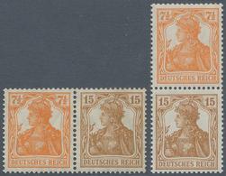 Deutsches Reich - Zusammendrucke: 1916, 7½ + 15 Pfg. Germania, Alle Zusammendrucke Zu Markenheftchen - Zusammendrucke