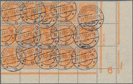Deutsches Reich - Zusammendrucke: 1921, 10 Pfg. Orange, 15er-Block Oben Links Aus MHB Mit Drei Randl - Zusammendrucke