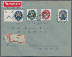 Deutsches Reich - Zusammendrucke: 1925, Waagerechter Zdr. X + 20 Pf Nothilfe U. Kompl. Satz Nothilfe - Zusammendrucke