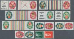 Deutsches Reich - Zusammendrucke: 1926-1929, Nothilfe Landeswappen II-IV Und Hindenburgspende, 11 Zu - Zusammendrucke