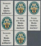 Deutsches Reich - Zusammendrucke: 1928, 8 Pfg. Nothilfe Landeswappen III, 3 Ungebrauchte Senkrechte - Zusammendrucke