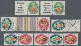 Deutsches Reich - Zusammendrucke: 1929, Nothilfe: Kleines Gestempeltes Lot Zusammendrucke Der Angege - Zusammendrucke