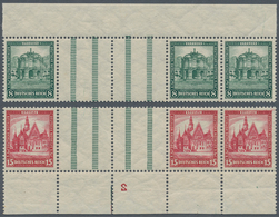 Deutsches Reich - Zusammendrucke: 1931, 8 Und 15 Pfg. Nothilfe, 2 Einwandfrei Postfrische Zusammendr - Zusammendrucke