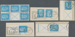 Deutsches Reich - Zusammendrucke: 1932, Reichspräsidenten, 4 Pfg. Blau Im Kehrdruckpaar Auf Briefstü - Zusammendrucke