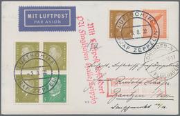 Deutsches Reich - Zusammendrucke: 1932. Kurzfahrt In Die Schweiz. Bordpostkarte (3.8.32) Mit Ebert-H - Zusammendrucke