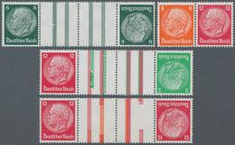 Deutsches Reich - Zusammendrucke: 1933, 5 Pfg., 6 Pfg., 8 Pfg. Und 12 Pfg. Hindenburg, Alle Zusammen - Zusammendrucke