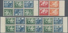 Deutsches Reich - Zusammendrucke: 1933, Nothilfe Wagner 9 Zusammendrucke In Einheiten, Mi. 780,- - Zusammendrucke