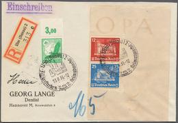 Deutsches Reich - Zusammendrucke: OSTROPA 1935, Block-Zusammendruck, Auf Portogerechtem R-Brief, Mit - Zusammendrucke