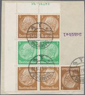 Deutsches Reich - Zusammendrucke: 1936, Hindenburg-Zusammendruckpaar Mit ¾ Der HAN Auf Briefstück Ge - Zusammendrucke