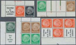 Deutsches Reich - Zusammendrucke: 1936, 5 Hindenburg-Zusammendrucke Aus Markenheft 36 Postfrisch Mit - Zusammendrucke