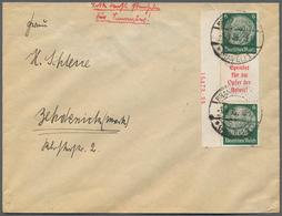 Deutsches Reich - Zusammendrucke: 1935, Hindenburg 1934, Senkrechter Zusammendruck, 6 Pfg.+A5+6 Pfg. - Zusammendrucke