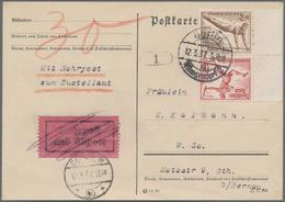 Deutsches Reich - Zusammendrucke: 1936, Olympia Kehrdruck 3 Pfg./12 Pfg. Auf Rohrpostkarte Aus Berli - Zusammendrucke