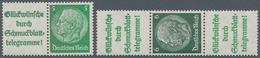 """Deutsches Reich - Zusammendrucke: 1940, 2 Hindenburg-Zusammendrucke Mit Plattenfehler """"G Von Glückwü - Zusammendrucke"""