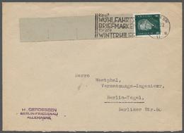 Deutsches Reich - Rollenmarken: 1928, 8 Pfg. Ebert, Rollenendmarke, Mit Den Vier Briefmarkengroßen, - Zusammendrucke