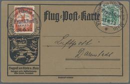 """Deutsches Reich - Halbamtliche Flugmarken: 1912, 20 Pf. E.EL.P. Mit Aufdruck-PLATTENFEHLER """"Komma St - Luftpost"""