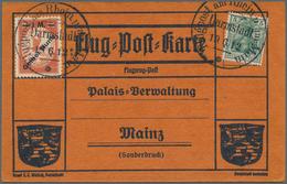 """Deutsches Reich - Halbamtliche Flugmarken: 1912, 1 Mark Gelber Hund Mit Aufdruckfehler """"Huna"""" (minim - Luftpost"""