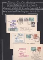 Trois Vol Par Hélicoptère 1950 - Lettres & Documents