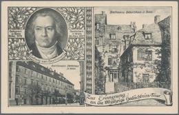 Deutsches Reich - Privatganzsachen: 1924/1933, 5 Pf Grün BEETHOVEN Privat-Ganzsachenkarte Ungebrauch - Ganzsachen