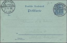 """Deutsches Reich - Stempel: 1900, """"AACHEN 72. VERS. D. NATURE U. AERZTE"""" Seltener Sonderstempel Auf R - Deutschland"""