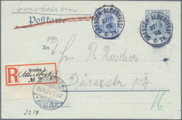 """Deutsches Reich - Stempel: """"DRESDEN (ALBERTFEST)"""", Seltener Sonder-R-Zettel Auf 2 Pfg. Germania-Ganz - Deutschland"""