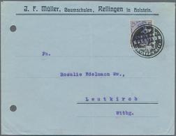 """Deutsches Reich - Stempel: 1920, """"KAIS. D. POSTAMT RELLINGEN""""/Schlesw.Holst. Post-Siegel-Stempel Auf - Deutschland"""