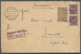 Deutsches Reich - Stempel: MÜNCHEN 13. DEUTSCHES TURNFEST 19.7.23, Klar Und Der Seltene Sonder-R-Zet - Deutschland