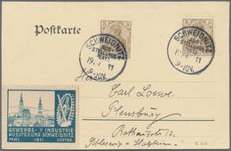 """Deutsches Reich - Stempel: 1911, """"SCHWEIDNITZ/AUS-STELLUNGS-PLATZ"""", Sonderstempel (Bochmann Nr. 1) D - Deutschland"""