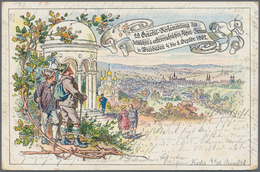 """Deutsches Reich - Stempel: 1902, """"WIESBADEN / XXIX. GENERAL-VERS. DES D.u.Ö.A.-V 8/9 02"""", 2x SST. (B - Deutschland"""