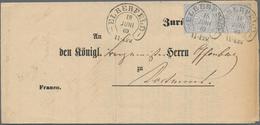 Deutsches Reich - Hufeisenstempel: ELBERFELD 18 JUNI 69 Auf Vordruck-Insinuations-Dokument Mit Paar - Deutschland