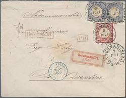 Deutsches Reich - Hufeisenstempel: HAGENAU I.ELS. 2 JULI 73 (Spal. Nr. 16) Auf Einschreiben Mit Selt - Deutschland