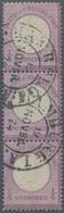 Deutsches Reich - Hufeisenstempel: HAMBURG I.A. 19 NOVBR 74 Hufeisenstempel Auf Dreierstreifen ¼ Gr, - Deutschland