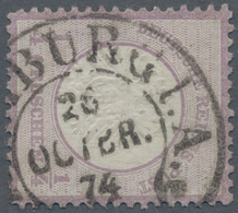 Deutsches Reich - Hufeisenstempel: HAMBURG I.A. 26 OCTBR 74 Hufeisenstempel A. ¼ Gr, Verwendung 1874 - Deutschland