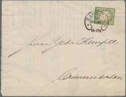 Deutsches Reich - Hufeisenstempel: HAMBURG 31 DECBR (1874) LETZTTAGS-STEMPEL Auf Schiffs-Drucksache - Deutschland