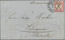 """Deutsches Reich - Hufeisenstempel: 1872, Bahnpost-Brief Mit Hds. """"Altmünsterol"""" Und Hufeisenst. """"MÜH - Deutschland"""