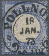 Deutsches Reich - Hufeisenstempel: POLLNOW 18 JAN 73, Zentrischer Idealstempel Auf Großer Schild 2 G - Deutschland