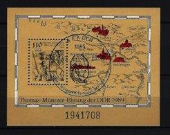 DDR - Block Nr. 97 - 500. Geburtstag Thomas Müntzer Gestempelt BERLIN (2) - [6] República Democrática