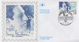 Enveloppe  FDC   1er Jour   MONACO    George   GERSHWIN    1998 - Music